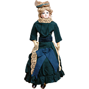 SALE Navy Wool Visiting Ensemble Antique Doll Dress Sz. 1 French Fashion Doll C. 1885 ...