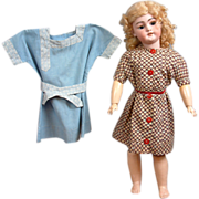 SOLD Fine duo of 1915-1920's Antique Dresses In Pristine Condition For Toddler Or Character Do