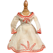 SOLD Museum Display Quality Huret Fashion Doll Dress Entirely Hand Sewn in the 1860's With Sou