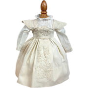 SOLD Remarkable C. 1867 Rohmer or Huret Antique Doll Dress With La Mode Enfantine Blouse