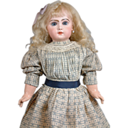 SOLD Exquisite Victorian French Bebe Dress of Patterned Cotton & Silk For Your Bebe Doll C