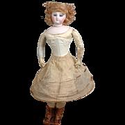 SOLD Wonderful Tatted Hoop Skirt for Huret Era Poupee~C. 1862~ - Red Tag Sale Item