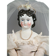 "SALE 21"" China Lady Doll With Immaculate Double Chignon on Original Body C. 1861 In ..."