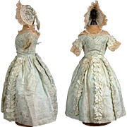 SOLD Incredible C. 1872 Silk Ball-Gown For Bru or Portrait Jumeau French Fashion Poupee
