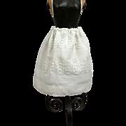 Singular 1830's Folk Art Half Slip For Early Wax Or Papier Mache Dolls