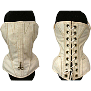 SALE Rare C. 1870 ~Parisienne~ Poupee Corset with Exquisite Structured Boning and 18 Grommets