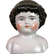 Fabulous & Rare 1860 Highland Mary Antique China Head w/Deep Curls & EXCELLENT Painting of ...
