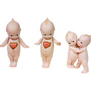 Collector's Choice -- Antique Kewpie Lot c.1913, 2 Standing & One Hugger Pair by Rose ...