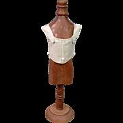 SOLD Uncommon Antique Cream Canvas Doll Corset c.1895 in Fantastic Condition PERFECt for Size