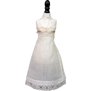 Pristine~Hard To Come By Full 'Princess Slip' With Handmade Lace and Insertion Ribbon Top For