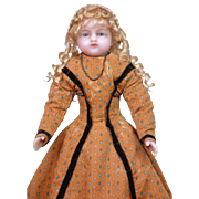 "SALE Outstanding 19"" English Wax Bebe By Meech C. 1862"