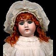 """SALE Striking 29"""" Heinrich Handwerck 109 Child in Crisp Antique Whites"""