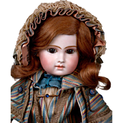 "SALE ~Valentine Sale~16"" First Series Early Almond Eye Portrait Jumeau Bebe C. 1875"
