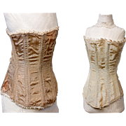 SOLD Pair of Exquisite Antique Silk Corsets For The Best French Fashion Dolls -- Fabulous Cond