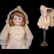Lovely Cream Cotton Antique Christening Bonnet c.1850