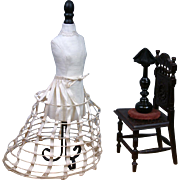 SOLD RARE Late 1860s-Early 1870s Antique Elliptical Hoop Skirt for the BEST of the BEST Fashio