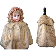 SOLD Lovely Antique Cream Mohair Capelet c.1885 for Your Favorite Bebe