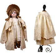 """SOLD Lovely c.1890 Antique Embroidered Wool & Silk Cape Coat for ~15"""" Bebes"""