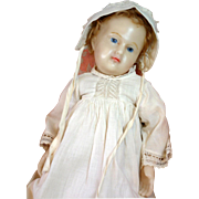 SALE Exquisite Life Size Pierotti Type English Wax Baby with Wax Limbs~ Excellent Condition!