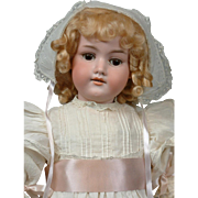 "Gorgeous 23"" Armand Marseille 390 N Antique Bisque Girl in Antique Costume"