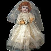 "*Wedding Bells* Handwerck 109 Bride 18.5"" EARLY Exposition Handwerck Body"