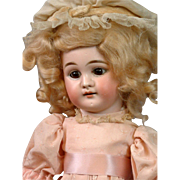 """Beautiful Early 14"""" Bisque Girl on Early Sonnenberg Belton Body c.1890 with Original Set"""