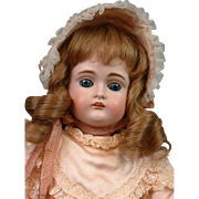 """Perfect 14.5"""" Kestner 167 Bisque Doll In Silk Costume"""