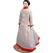 Fashionable Morning Dress C. 1865 for China Or Fashion Lady in Mint Condition