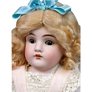 SALE Beautiful Pale-Bisque Kestner 154 with Exceptional Kidskin Body & Lovely Costume!