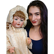 """SALE Extraordinary LIFE SIZED 26"""" George Borgfeldt Character Baby in Outstanding Mint-Qua"""