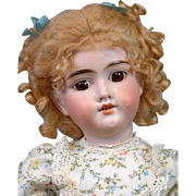 "SALE Lovely 20.5"" Antique Bisque German Girl w/Cute Costume & Darling Expression"