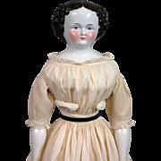 "SALE 23.5"" Civil War Era China Lady All Original Body and Costume"