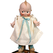"SOLD Extremely Rare 12"" Kewpie Model 297 With Cloth Body Bisque Hands Original Dress PERF"