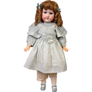 "SALE Beautiful Armand Marseille 390 Antique Bisque Doll 24.5"" w/Blue Eyes"