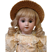 "SALE RARE SIZE 17.5"" SFBJ Jumeau 230 Antique Bisque Doll on Stamped Jumeau Walker ..."
