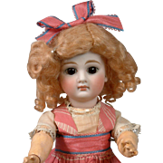 "Precious 11.25"" Antique Bisque Sonneberg Closed-Mouth Doll"