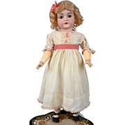 "SALE Lovely 22"" Kestner 167 Antique Bisque Doll with Cute Classic Presentation"