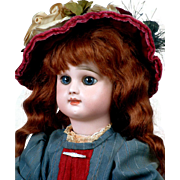 "18"" Rare Rabery & Delphieu French Bebe Antique Doll Circa 1885 in Wonderful Antique Costu"