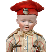 "Excellent 13"" Gebruder Heubach 1704 ""Smiling Boy"" in Antique Costume!"