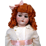 "SALE 28"" Adorable Rare Kammer & Reinhardt Flirty Child with Superb Antique Costume & Red ..."