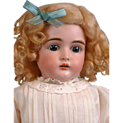 SALE Kestner 167 Antique Bisque Doll with Blue Eyes and Fabulous Body in Antique Dress