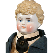 """SALE Fabulous 18"""" Blond China Antique Boy in Custom Tailcoat Costume"""