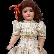 "Cute 16.5"" Lanternir Limoge French Antique Bisque Girl"