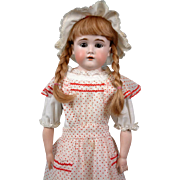 """Fabulous Kestner 166 23.5"""" Antique Girl on Fabulous Kid Body with Bisque Hands"""
