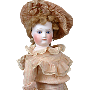 """Angelic 21.5"""" Fashion Poupee By Blampoix In Wonderful Condition With Antique Costume and"""