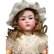 "12.5"" Gebruder Heubach 6970 Pouty Character Child with Pink Bisque & Closed-mouth"