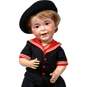 "23"" Rare Chunky SFBJ 236 Laughing Jumeau French Baby Boy  (head circ. Is 16.5"")"
