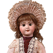 "Lovely 23"" SFBJ Depose French Antique Girl with Antique Mohair Wig!"