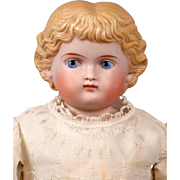 "Darling 18"" Antique Parian Girly Doll with Sweet Presentation"