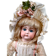 """19.5"""" Kestner Pouty with XI Face on early Pull-String Body w/ Antique Wig ..."""